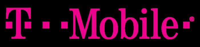 T-Mobile logo, logotype, pink