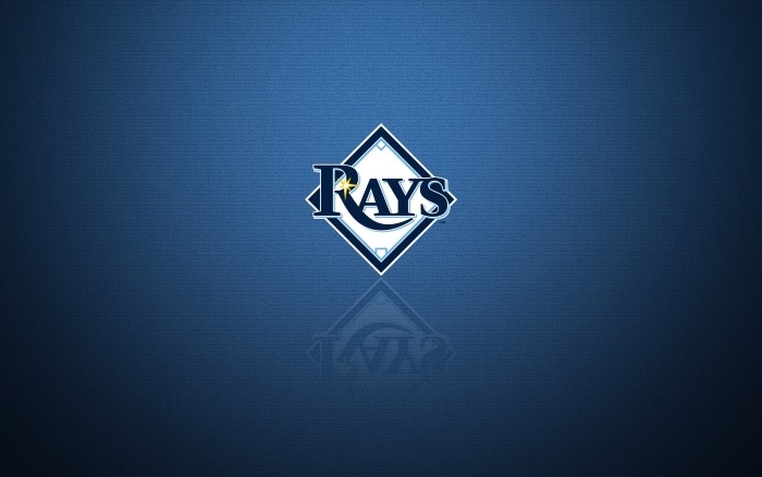Tampa Bay Rays desktop wallpaper with team logo, widescreen 1920x1200, 16x10, HD