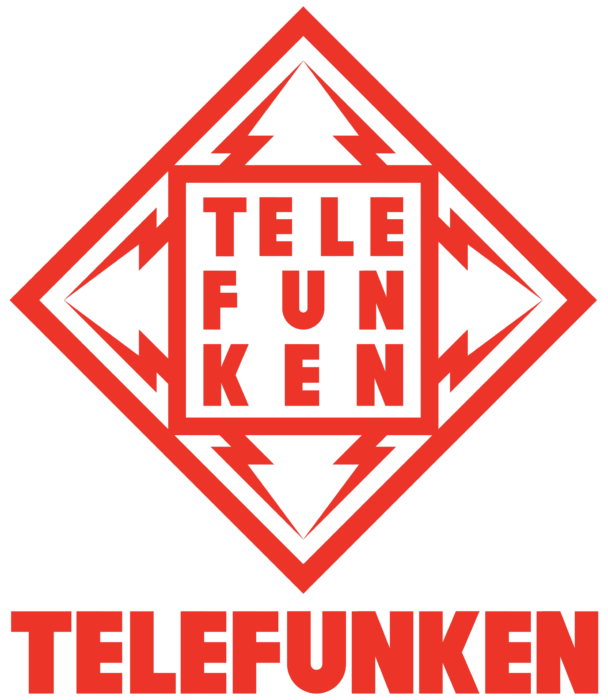 Telefunken logo, logotype, red
