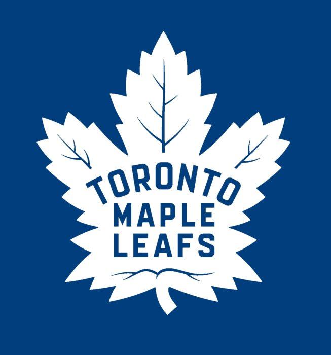 Toronto Maple Leafs emblem, new, blue bg