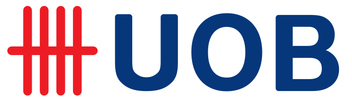 UOB (United Overseas Bank) logo, logotype, symbol