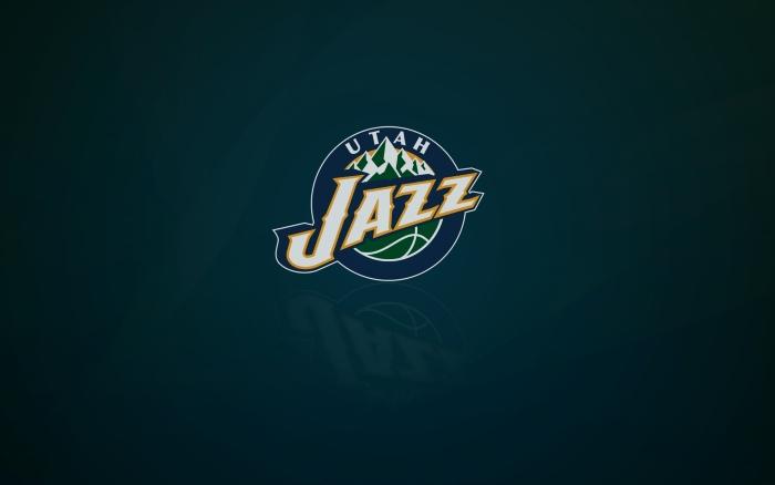 Utah Jazz wallpaper with logo, wide 1920x1200, 16x10