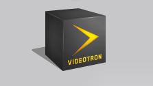 Vidéotron Mobile logo, emblem, gray