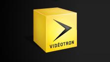 Vidéotron logo, symbol, yellow, cube