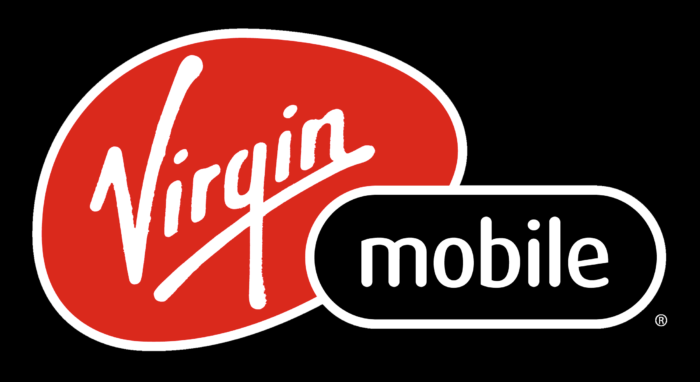 Virgin Mobile logo, black