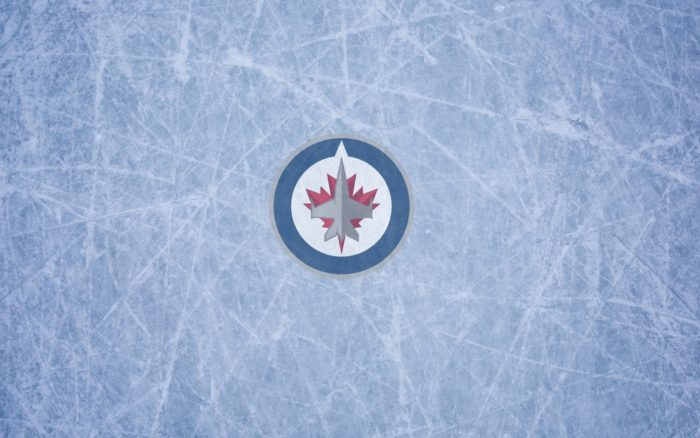 Winnipeg Jets wallpaper with logo and ice on it, widescreen 1920x1200, 16x10