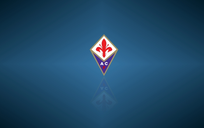 ACF Fiorentina wallpaper, wide background with club logo 1920x1200px