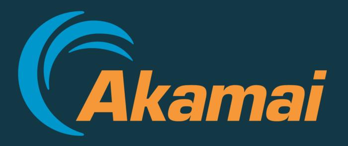 Akamai logo, blue background