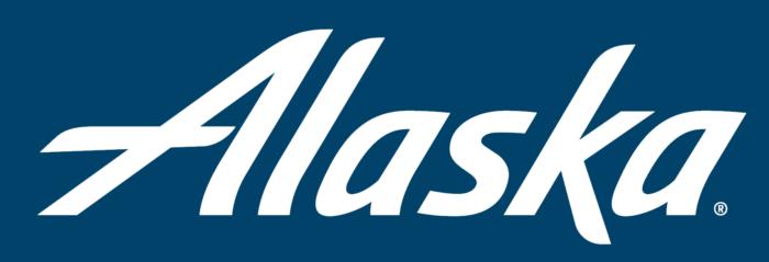 Alaska Airlines logo, blue bg