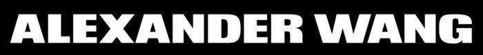 Alexander Wang logo, black bg