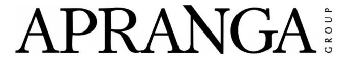Apranga logo, black