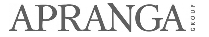 Apranga logo, gray