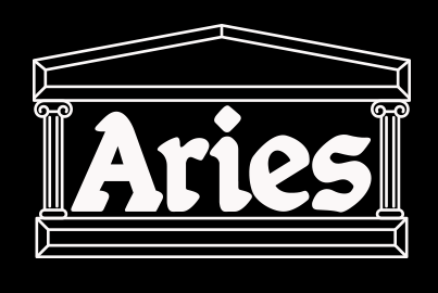 Aries clothing logo, black