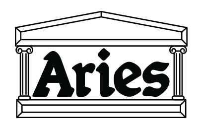 Aries logo, logotype, shoe brand