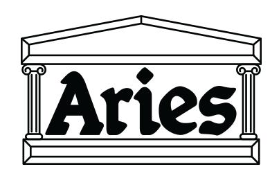Aries logo, logotype, shoe brand