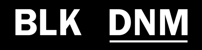 BLK DNM logo, black