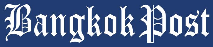 Bangkok Post logo, blue bg