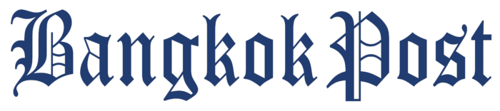Bangkok Post logo, blue wordmark