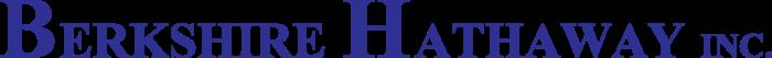Berkshire Hathaway logo, logotype, wordmark