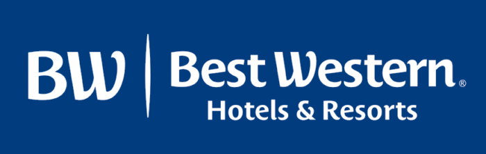 Best Western logo, blue background