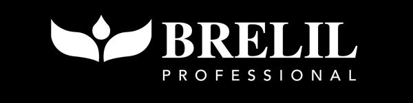 Brelil logo, black bg