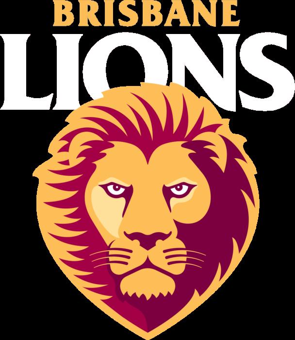 Brisbane Lions logo, white letters - transparent background