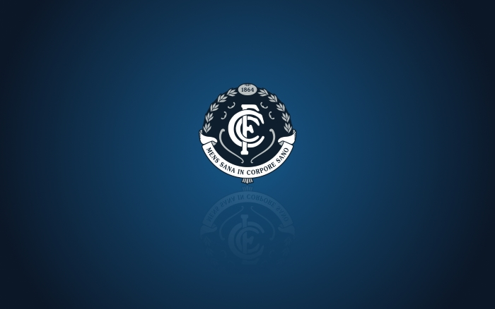 Carlton Blues wallpaper, widescreen desktop background with team logo - 1920x1200