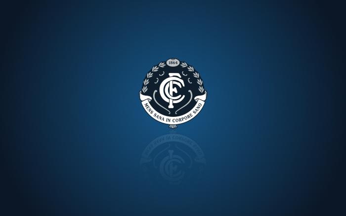 Carlton Blues wallpaper, widescreen desktop background with team logo - 1920x1200