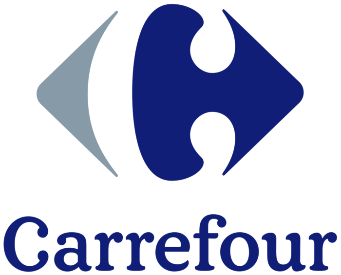 Carrefour logo, blue