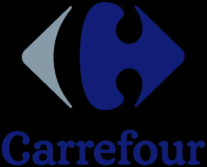 Carrefour logo, blue