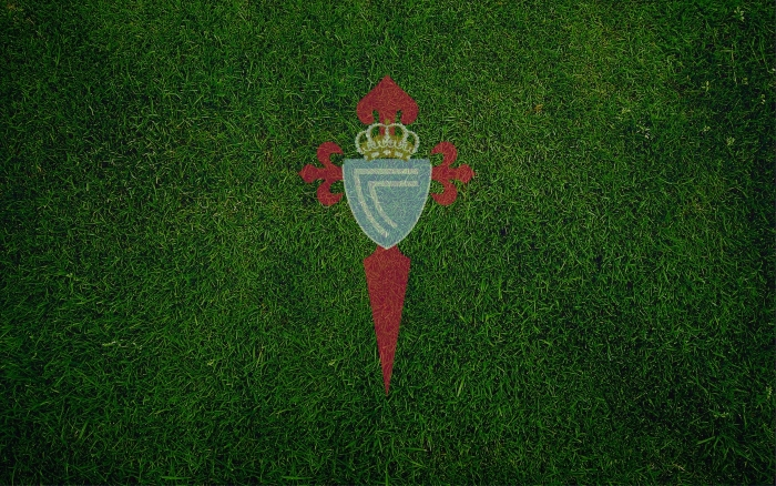 Celta de Vigo wallpaper with club logo on the field, wide HD background - 1920x1200px
