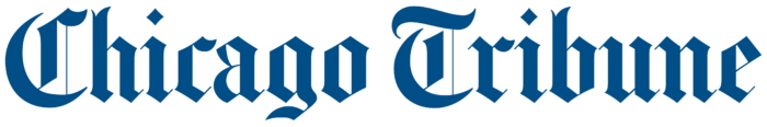 Chicago Tribune logo, blue