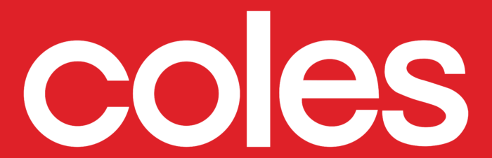 Coles logo, red