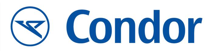 Condor Airlines logo, blue-white