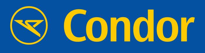 Condor Flugdienst logo, blue-yellow