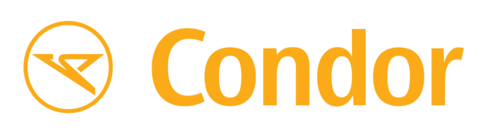 Condor Flugdienst logo, logotype, yellow