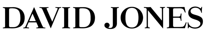 David Jones logo, wordmark