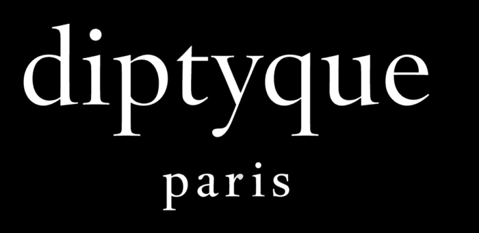 Diptyque logo, inverted colors