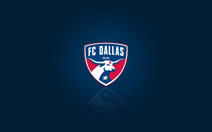 FC Dallas wallpaper, background with logo, widescreen, HD, 1920x1200