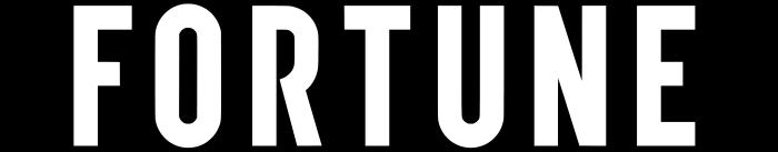 Fortune logo, black background