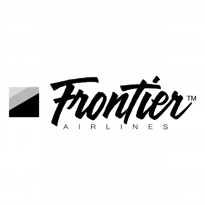Frontier Airlines logo black