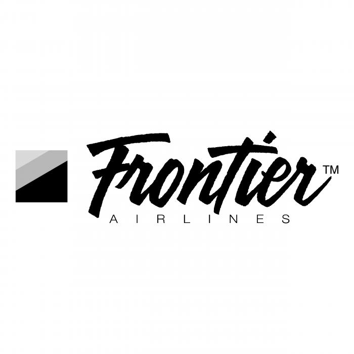 Frontier Airlines logo black