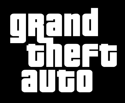 GTA Grand Theft Auto logo, black bg