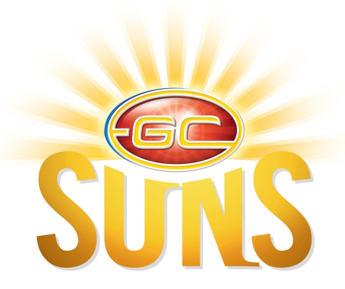 Gold Coast Suns logo, yellow