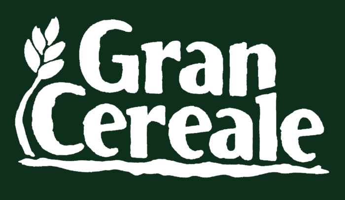 Gran Cereale logotype, green background