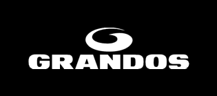 Grandos coffee logo, black background
