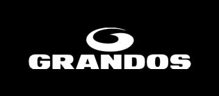 Grandos coffee logo, black background