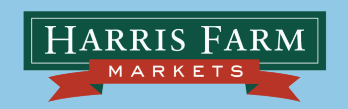 Harris Farm Markets logo, blue bg