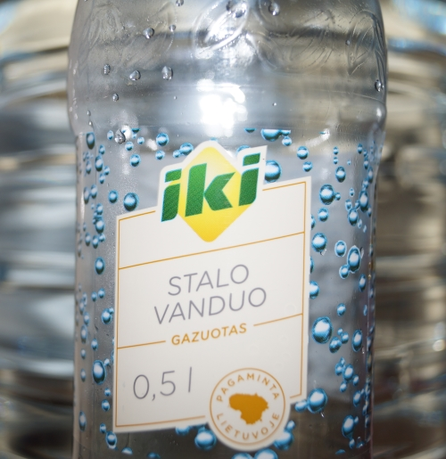 iki logo, bootle of water