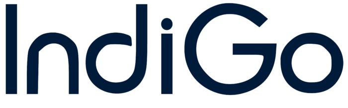 IndiGo Airlines logo, white bg
